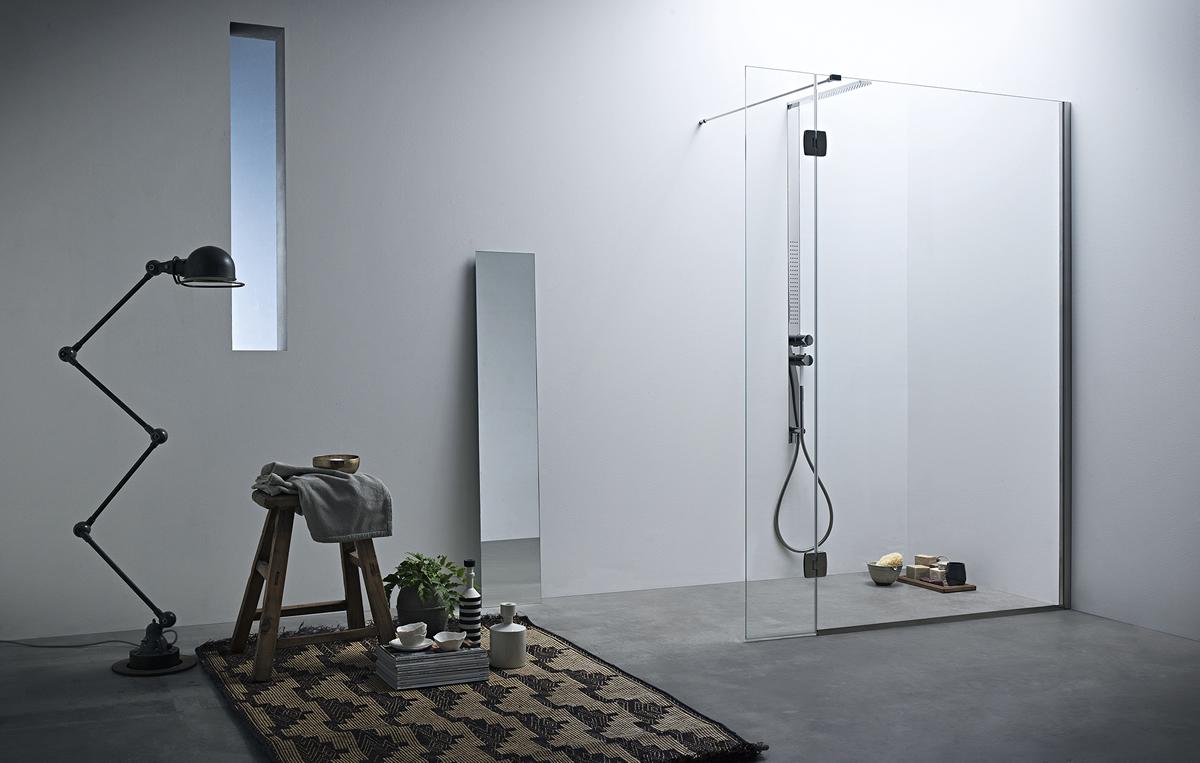 Calibe: box doccia su misira in cristallo